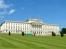 Photograph showing the Parliament Buildings at Stormont