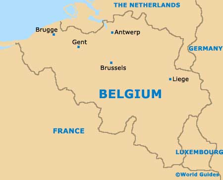 Brussels Maps And Orientation BrusselsCapital Region Belgium - Brussels on world map