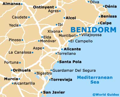 Small Benidorm Map