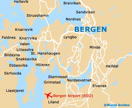Bergen Maps And Orientation Bergen Hordaland Norway - Norway map in the world