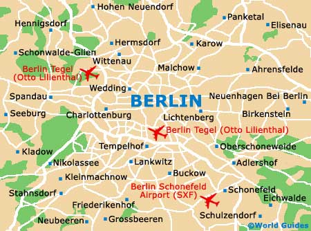 Map Of Berlin Tegel Otto Lilienthal Airport TXL Orientation - Berlin map hotels