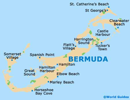 Map of Hamilton Bermuda L F Wade Airport (BDA): Orientation and Maps ...