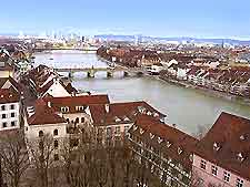 Aerial view of Basel city