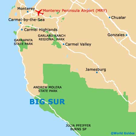Big Sur Maps And Orientation Big Sur California CA USA - Monterey on us map