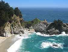 Picture of beach and McWay Falls