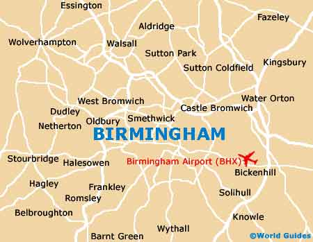 Birmingham Maps and Orientation Birmingham West Midlands England