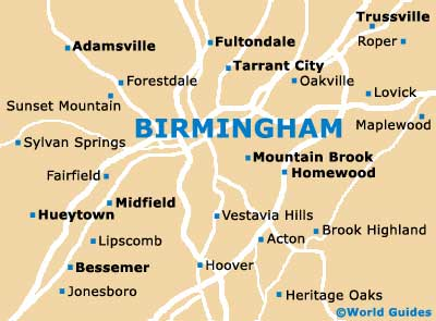 Birmingham Maps and Orientation Birmingham Alabama AL USA