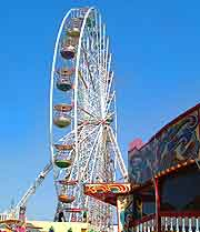 Photo of the big wheel on the Central Pier