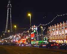 Photo showing the colourful Blackpool Illuminations