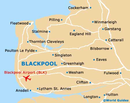 Small Blackpool Map