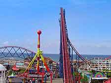 Further photo of the Pleasure Beach and rides