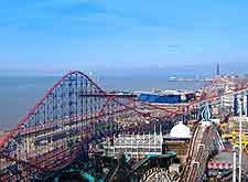 Photo showing the Pleasure Beach rides