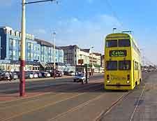 Photo of beachfront tram