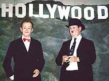 Photo of Laurel and Hardy at Tussaud's Waxworks