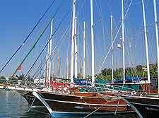 Summer photo of yachts
