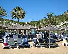 Photo of beachfront parasols