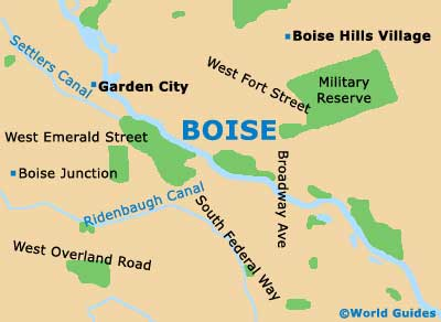 Boise Maps And Orientation Boise Idaho  ID USA