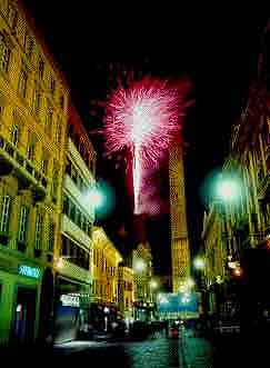 Fireworks over Bologna photograph
