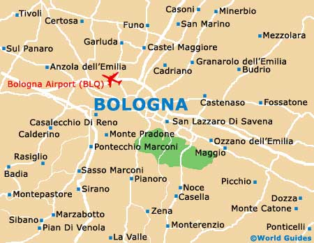 Bologna Maps and Orientation Bologna EmiliaRomagna Italy