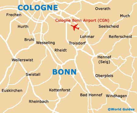 Bonn Maps and Orientation Bonn North RhineWestphalia Germany