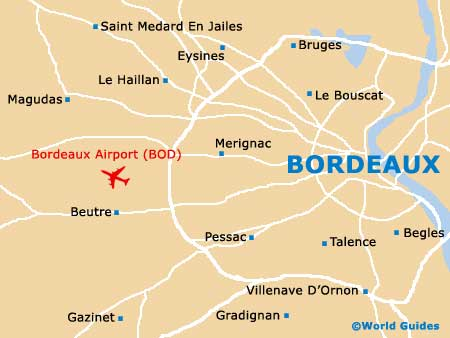 Small Bordeaux Map