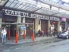 Bordeaux Airport (BOD) Orientation: Photograph showing the Gare St. Jean Train Station