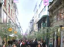 Photo showing shops in the city centre