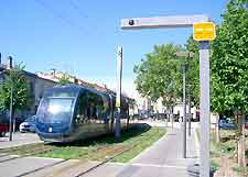 Bordeaux Airport (BOD) Travel and Transport: Photograph of the tram