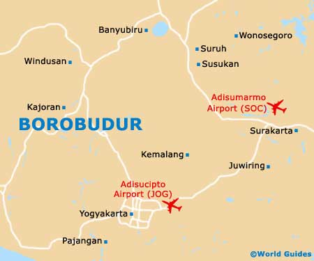 Borobudur Maps and Orientation Borobudur Central Java Indonesia