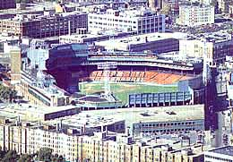 View showing Fenway Park