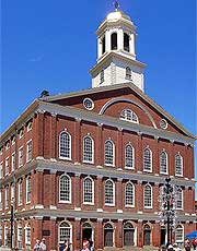 Photograph of Faneuil Hall, in the city center