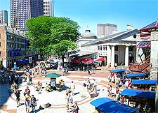 Photo of the Quincy Marketplace in the summer