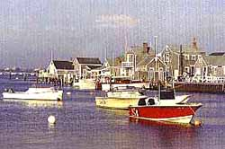 View of boats at Cape Cod