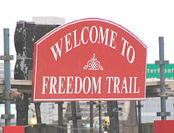 Image of Freedom Trail Welcome Sign