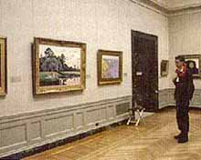 Image of one of the galleries in the Museum of Fine Arts