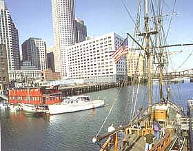 Photo showing the Boston Tea Party Ship replica