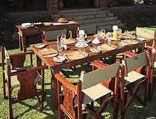 Further image of table set for dinner at Chobe Lodge