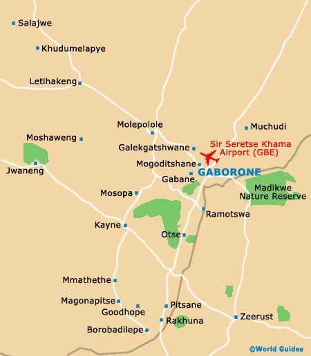 Botswana Maps and Orientation Botswana Southern Africa