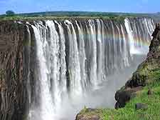 Close-up photo of the Victoria Falls