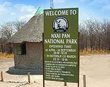 Photo of Nxai Pan National Park signpost