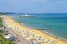 View of Bournemouth beaches