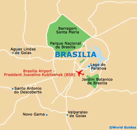 Brasilia Maps and Orientation Brasilia Planalto Central Brazil