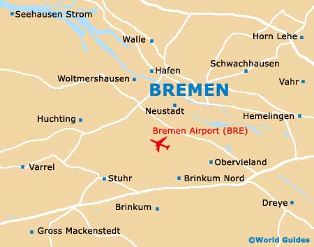 Map Of Bremen Airport BRE Orientation And Maps For BRE Bremen - Germany map airports