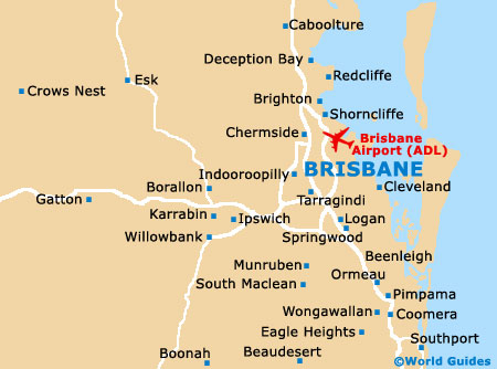 Small Brisbane Map