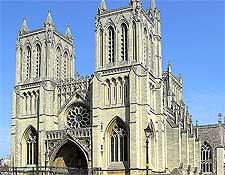 Image of Bristol Cathedral, showing the west front