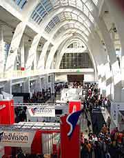 Interior photo of the Exhibition Centre
