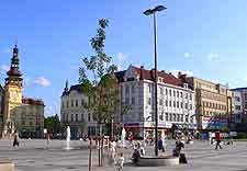 View of square in central Ostrava