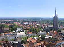 Aerial view of the city centre
