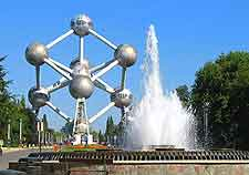 Photo of the city's iconic Atomium structure