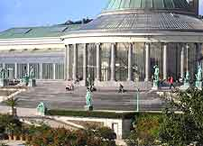 View of the Palm House in the Brussels Botanical Gardens
